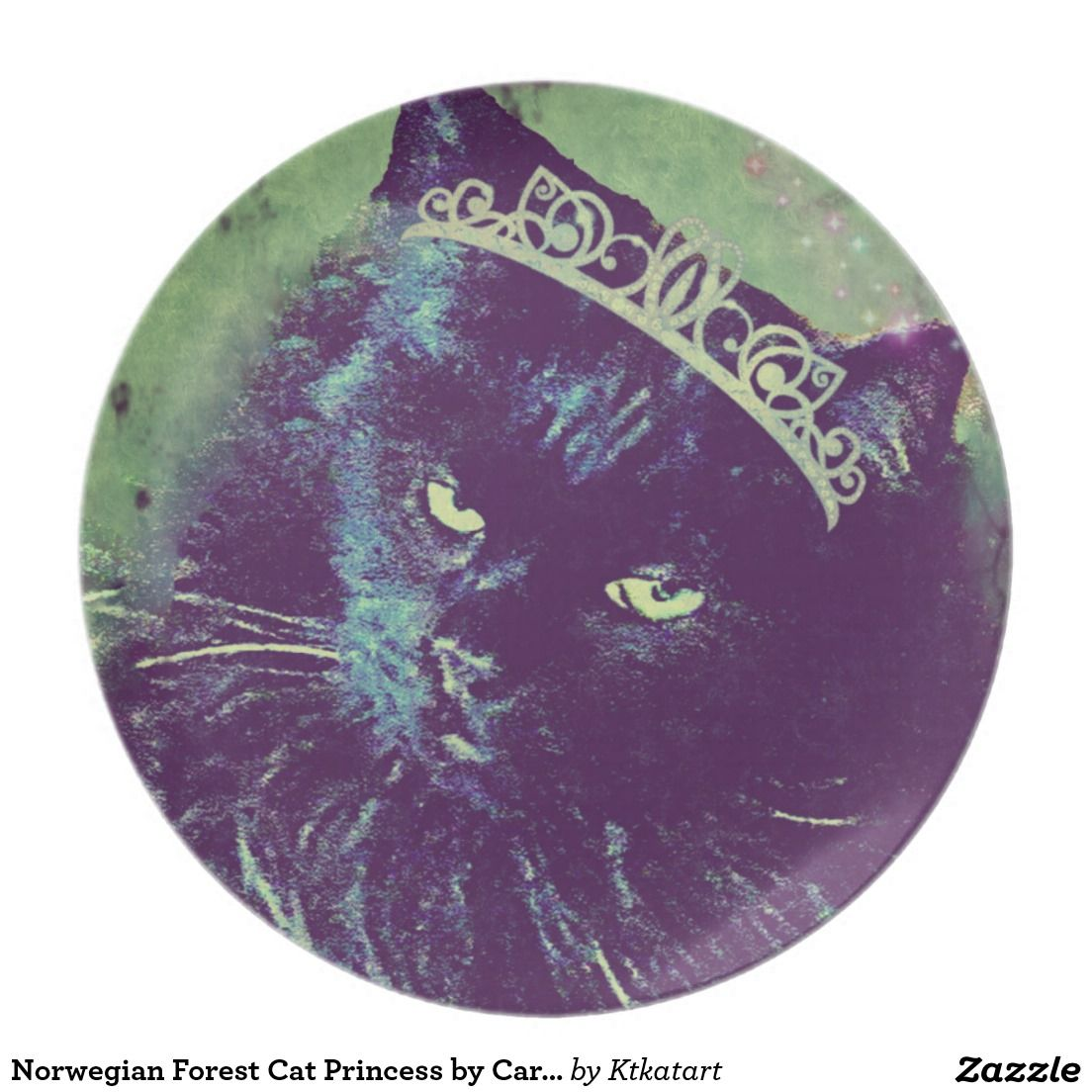 Norwegian Forest Cat Princess by Carol Zeock Plate