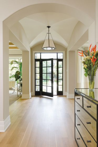 Foyer Entrance Definition : Architectural elements such as a cross barrel vaulted