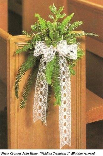 Pew Bows with Greenery - Church Wedding Decorations | Sav ...