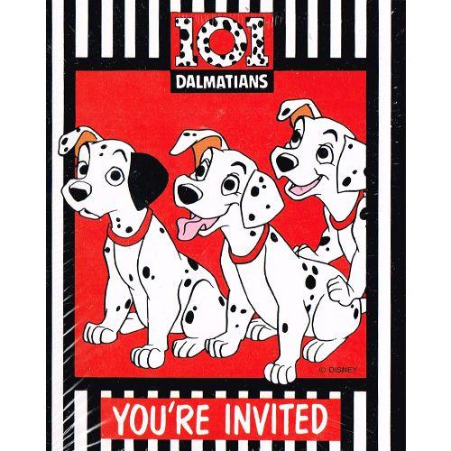 101 Dalmatians Invitations W Envelopes 8ct 101 Dalmatians Party