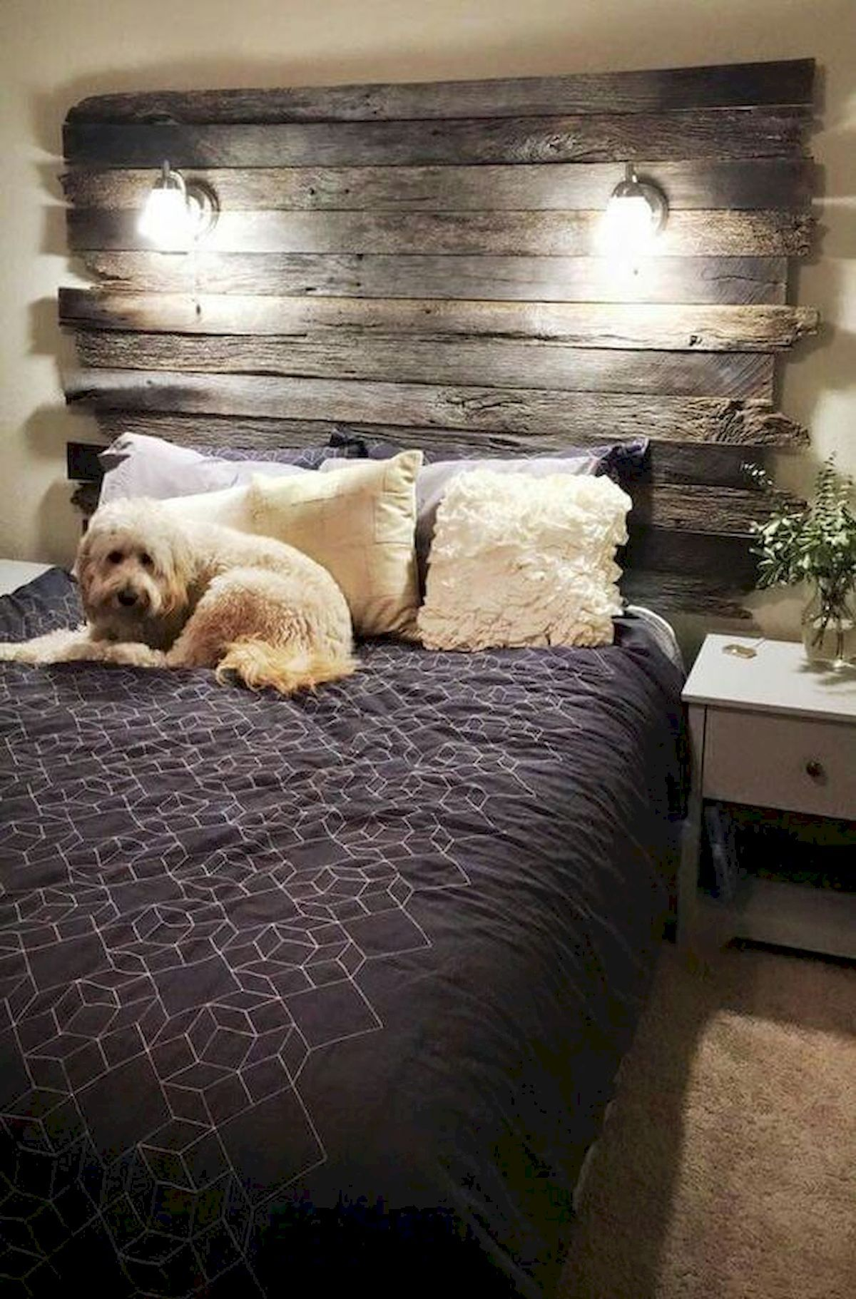 Cool 60 Inspiring Summer Diy Projects Pallet Headboards Bedroom