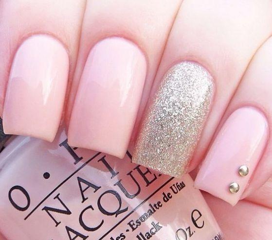 U as rosa con piedras dise os en u as nails for Unas decoradas con piedras de cristal