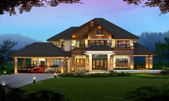 Modern American Style Home My House Plans House Mansions Homes