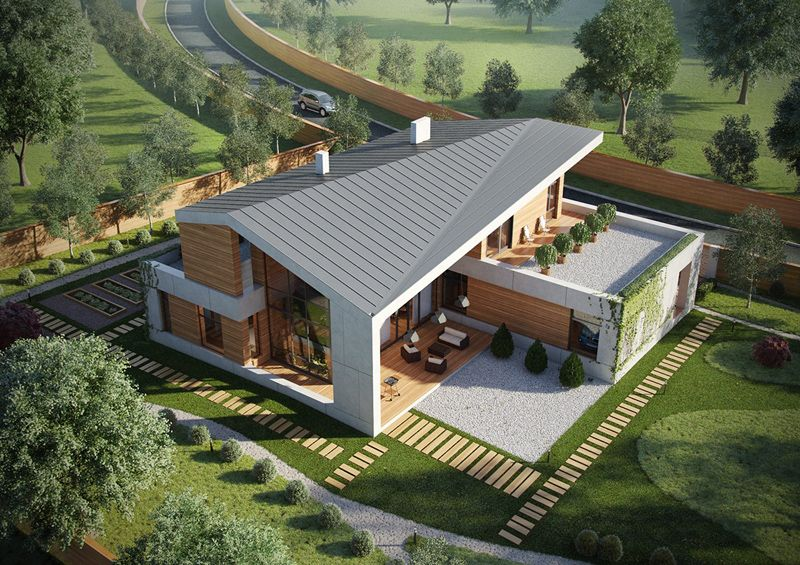 A Set Of Extraordinary Villas With A Modern Architecture Rustic House Cottage House Plans House Exterior