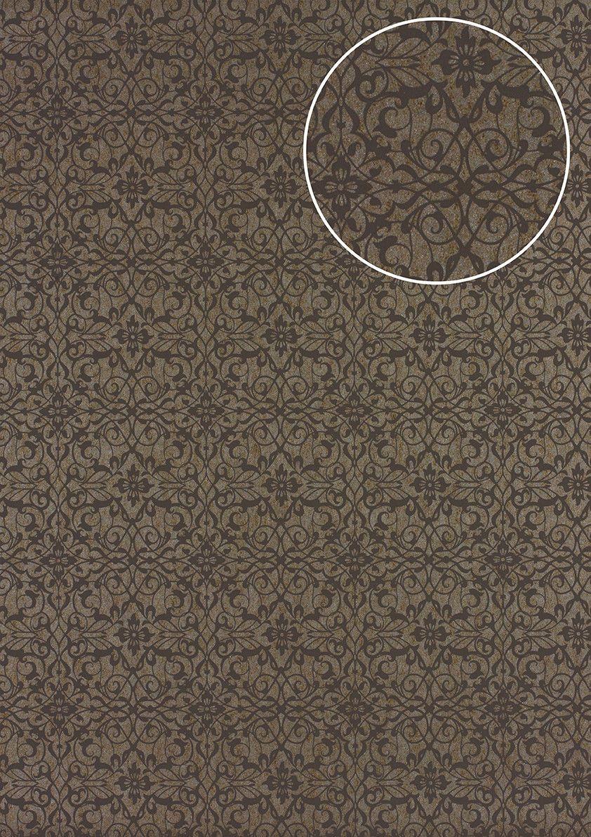 Details Zu Atlas PRI 498 1 Barock Tapete Ornament Glänzend Beige Braun Grau  5,33 M2 | Wallpaper | Pinterest | Beige