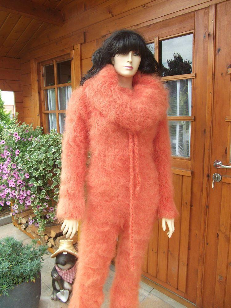 C152 Fuzzy Langhaar Mohair Catsuit \/ Pullover \/ Sweater \/ Overall - ebay k chen neu