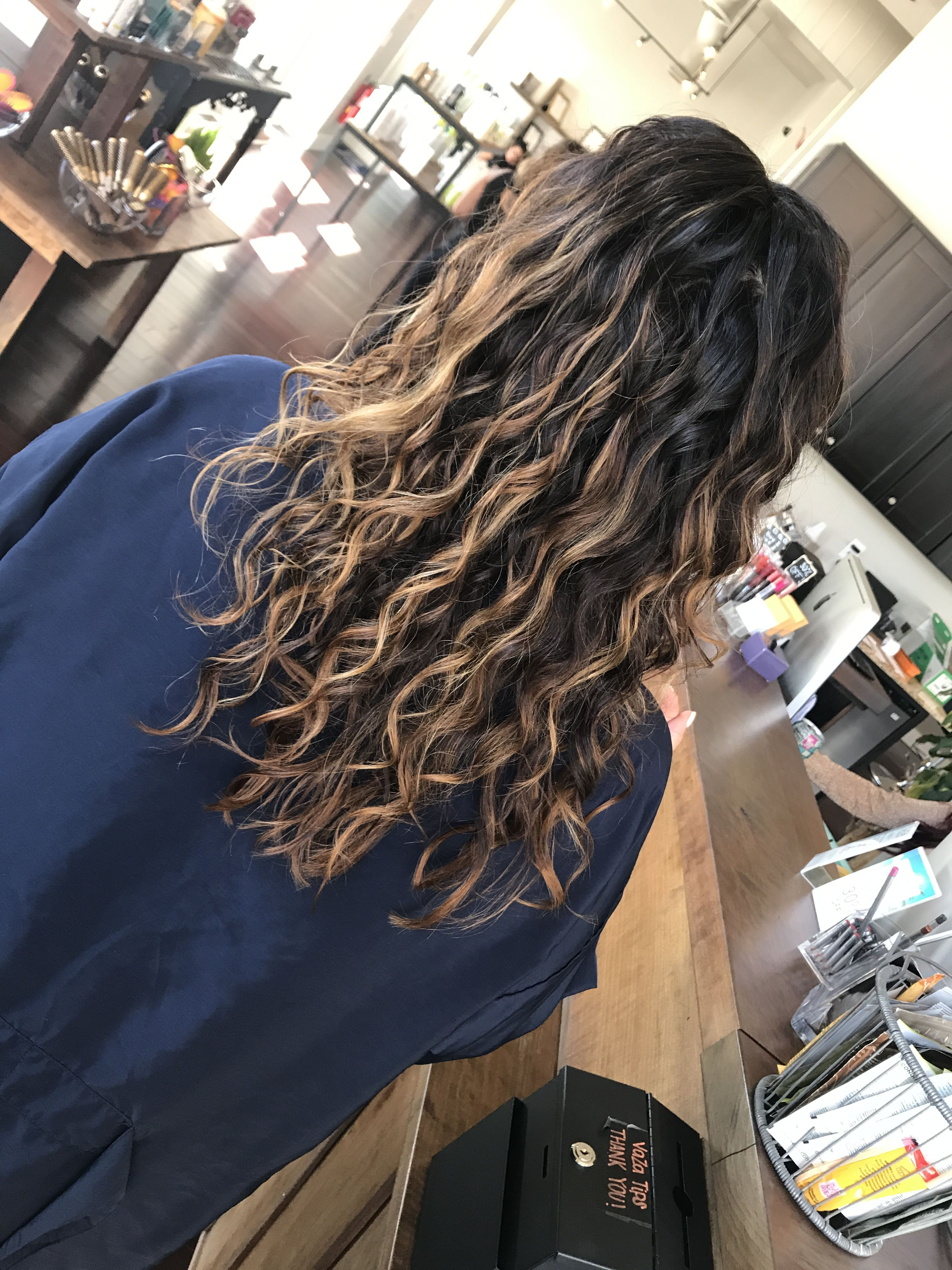 Curl Game Strong Permed Hairstyles Long Curly Black Hair Ombre Curly Hair