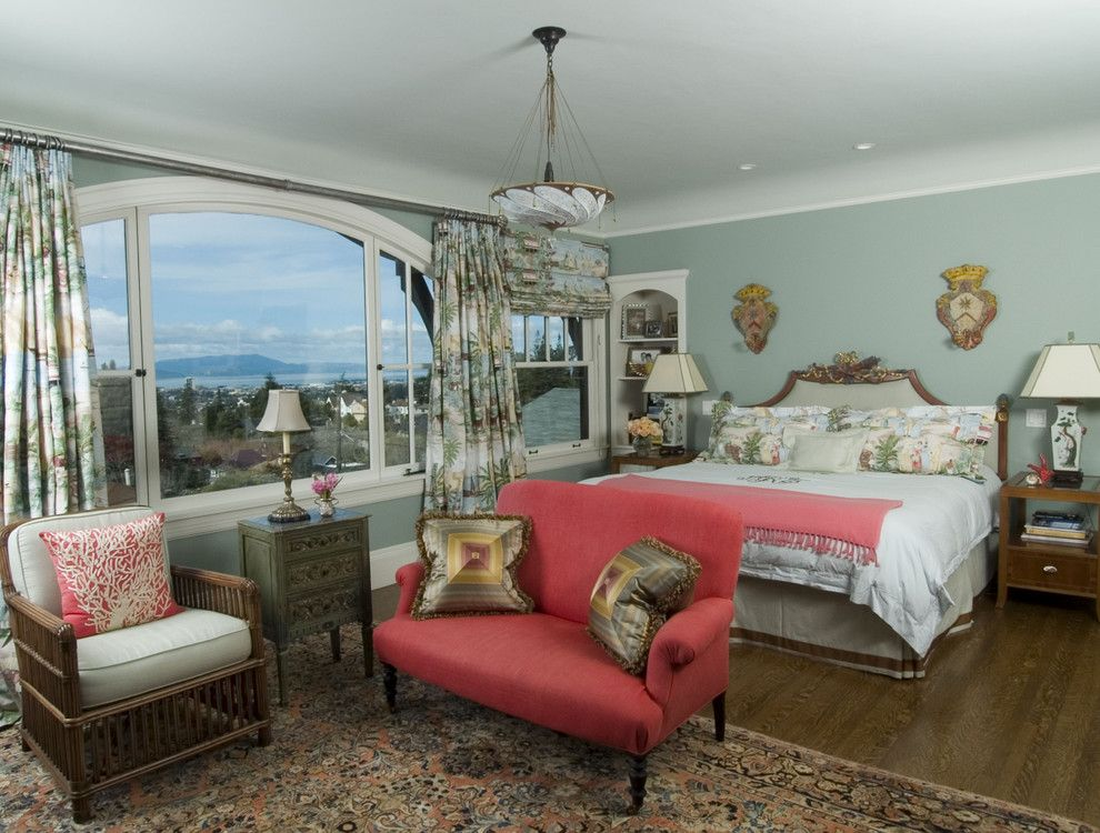 Pretty-Coral-Color-Sheets-trend-San-Francisco-Traditional-Bedroom ...