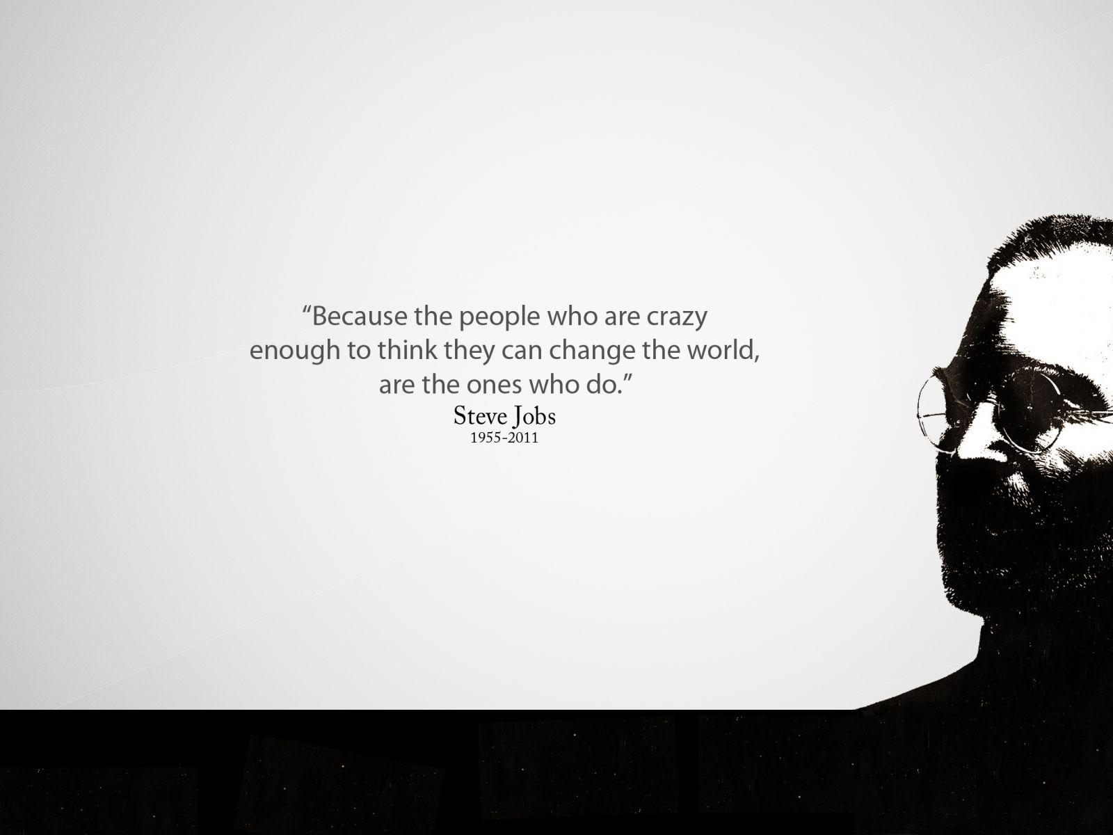 "Stock Quote For Apple Apple Steve Jobs Quote ""crazy Ones""  2560X1600 Wallpaper."