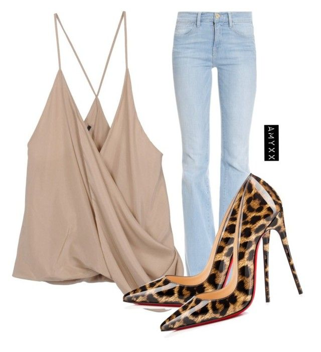 """""""#1268"""" by nineteen92 ❤ liked on Polyvore featuring Haider Ackermann, Frame Denim and Christian Louboutin"""
