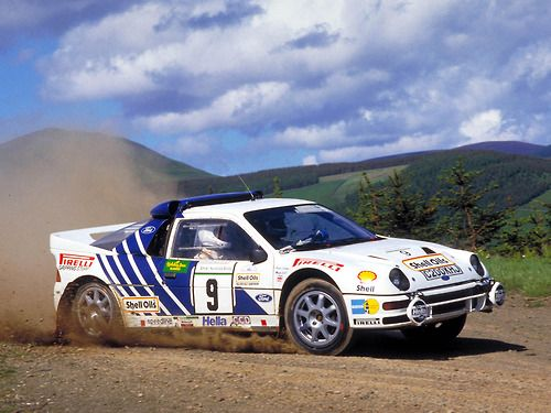 Stig Blomqvist Ford Rs200 Rally Car Group B 1986 Acropolis