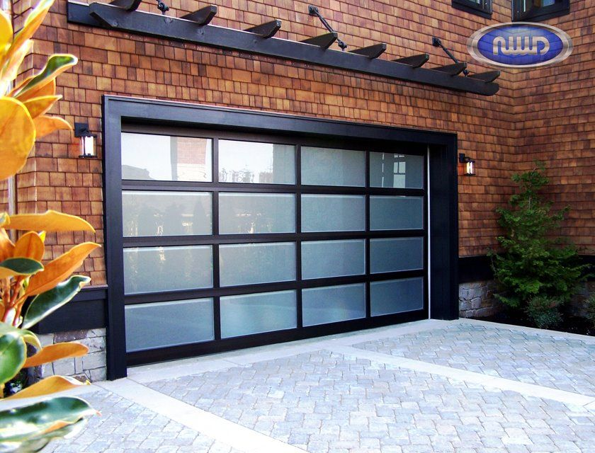 Modern Classic Aluminum Garage Door With Obscure Glass Mc 44 By Northwest