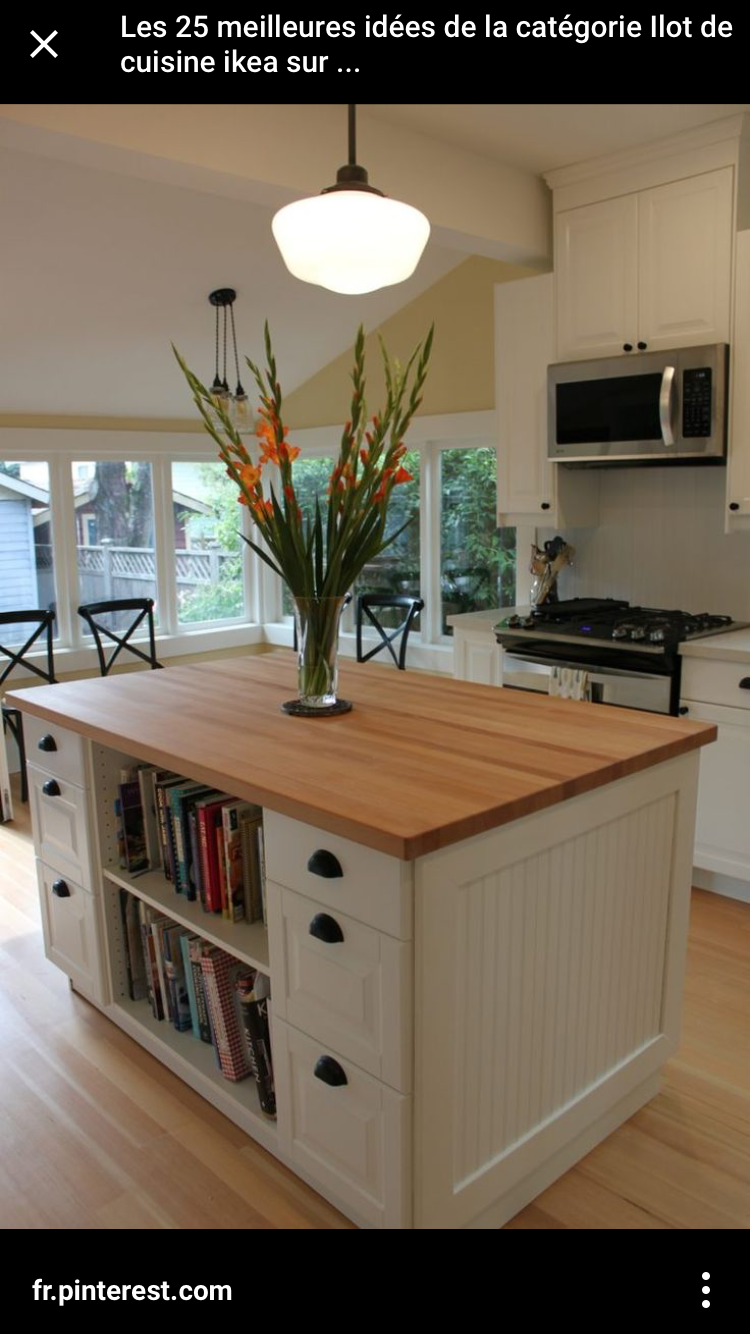 Mobile kitchen island  Pin by Sara Downie on Home Sweet Home  Pinterest  Kitchen floors