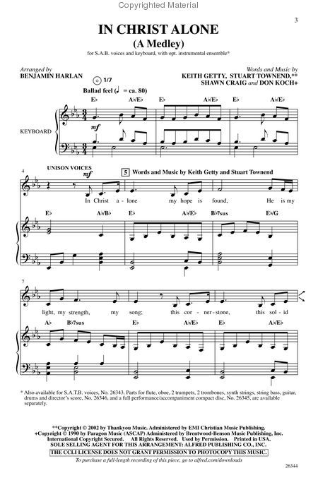 In Christ Alone A Medley Music Pinterest Sheet Music Pianos