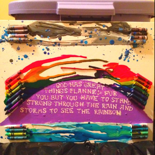 Took a while but proud of it!  Crayon art!