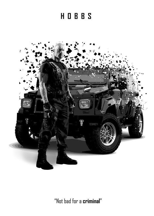 Fast And Furious Splatter Characters Displate Posters