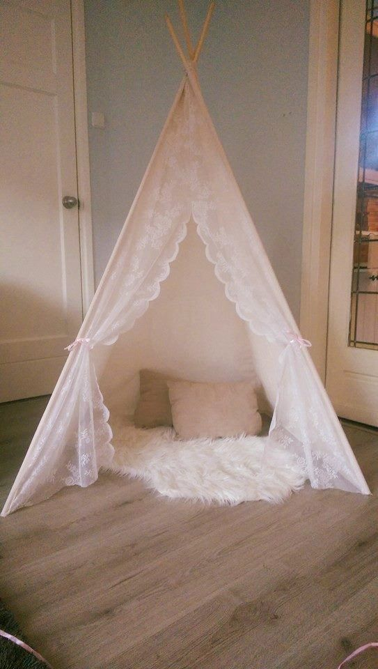 Lace 100% unbleached cotton-Childrens teepee tent tipi teepee play tent & Lace 100% unbleached cotton-Childrens teepee tent tipi teepee ...