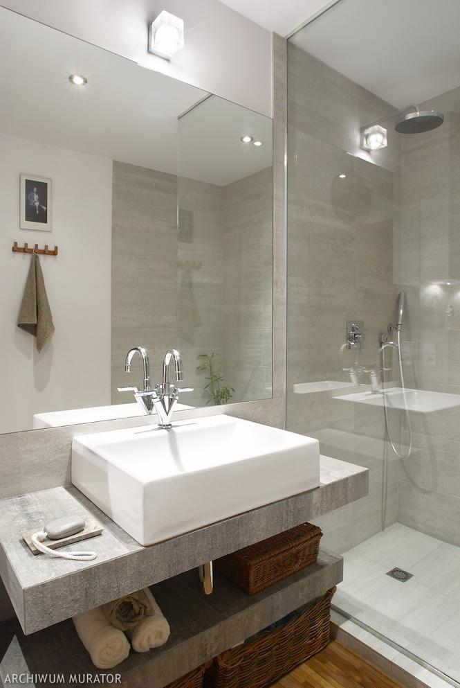 Mała łazienka W Szarościach Dom łazienka Home