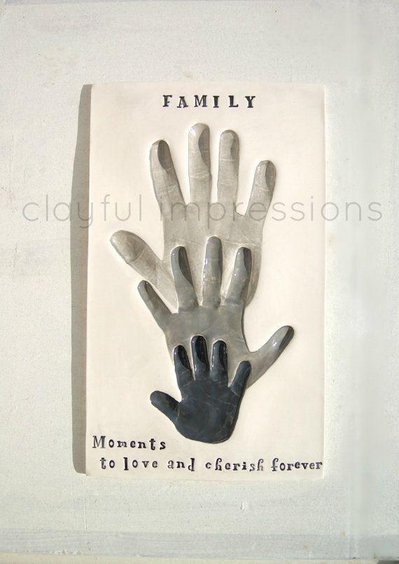 Baby & Child Hand and Footprint Ceramic by TheBabyHandprintCo