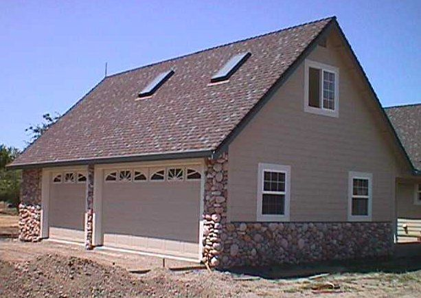 3 car garage with loft custom 3 car garage with studio for Custom garage plans
