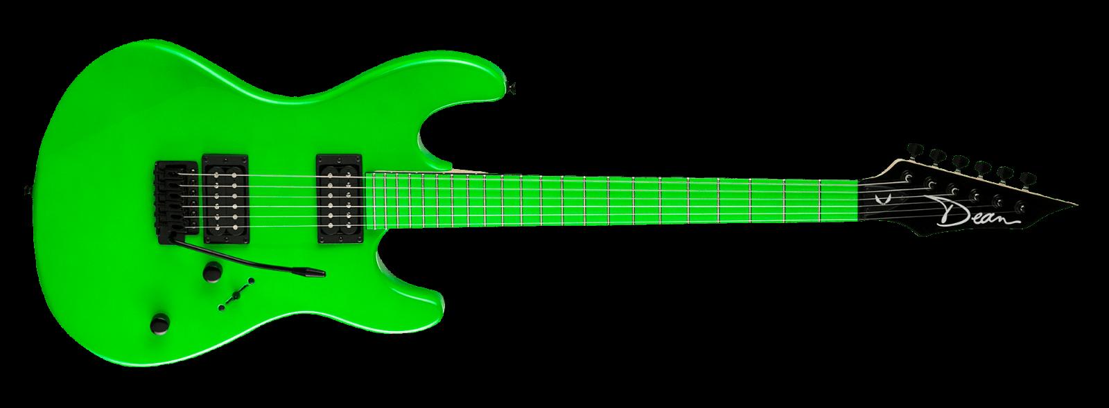 Dean Custom Zone Electric Guitar New Nuclear Green 2 Humbuckers Tremolo Price 229 99 Guitars Fo Electric Guitar Acoustic Guitar For Sale Guitar