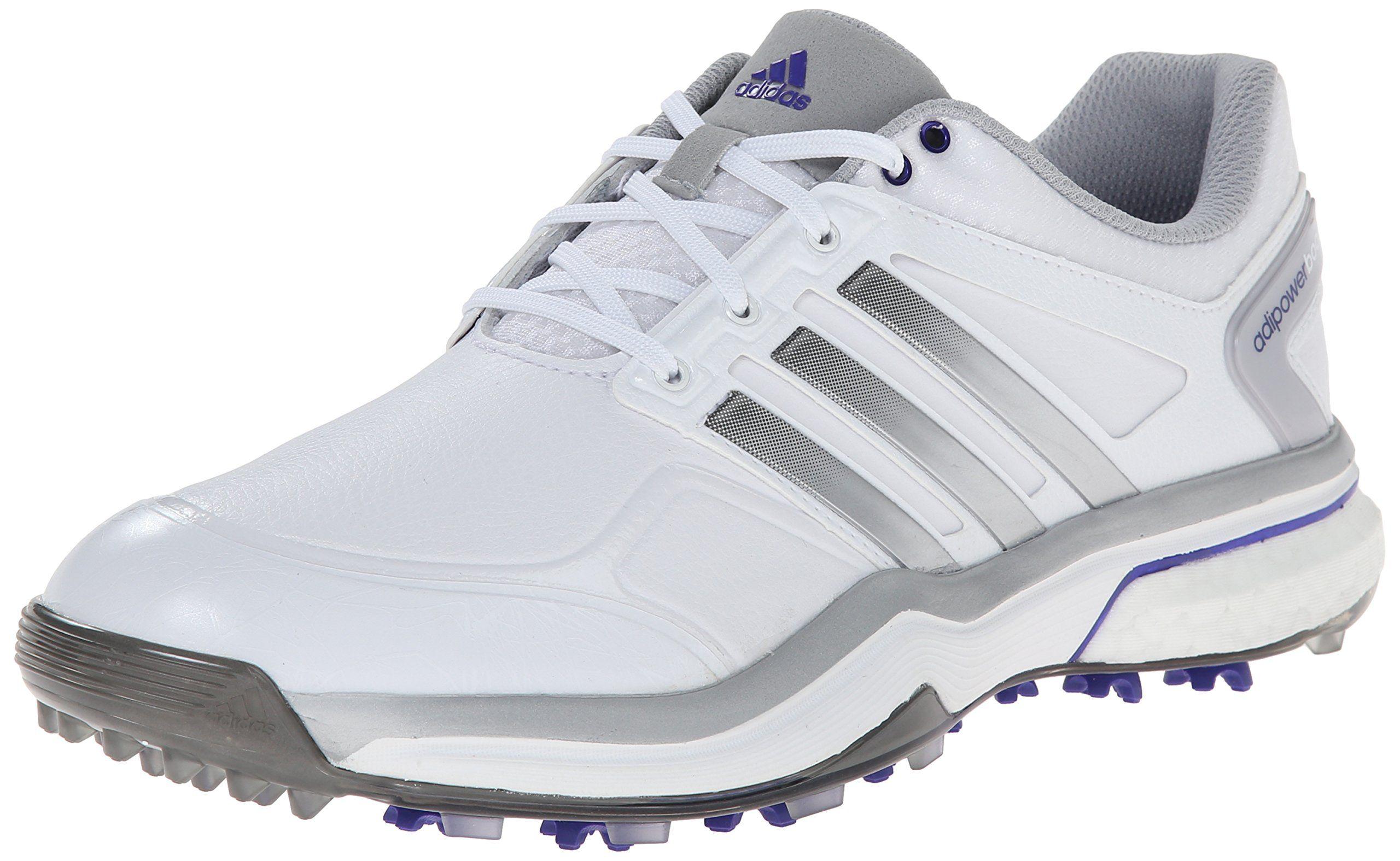 buy popular 13cf0 6dfb6 adidas Women s W Adipower Boost Golf Shoe, Running White Silver  Metallic Flash Purple, 6 M US