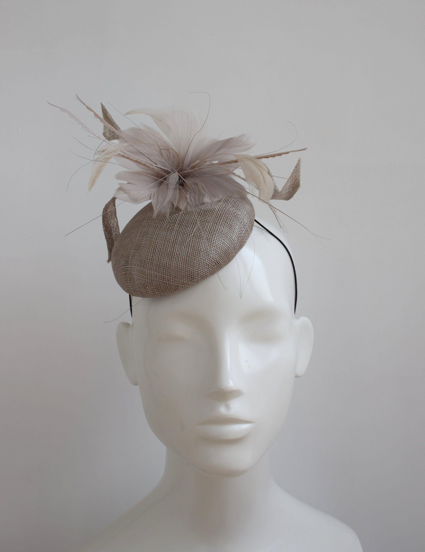 18e1b9e7 Mushroom Fascinator Hat - Neutral Fascinator - Fawn Ladies Day Hat - Mink  Pillbox Hat - Mushroom Wedding Hat - Cocktail Hat Fascinator - by ...