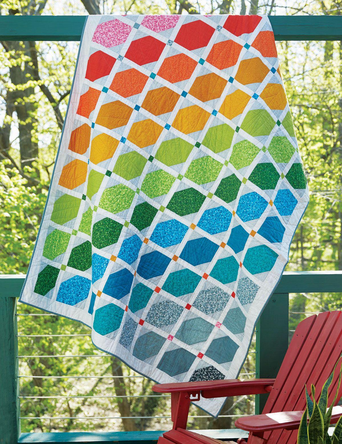 Rainbow Quilt - Fons & Porter | Rainbow quilt, Contemporary quilts ... : rainbow quilt pattern - Adamdwight.com