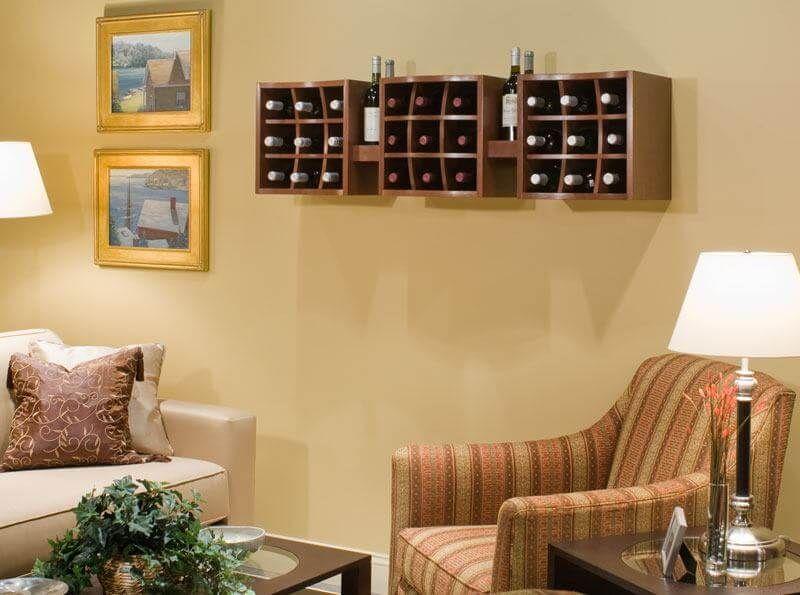 Wine Cube Wall Mounted Display & Wine Cube Wall Mounted Display | Bar | Pinterest | Cube Wine and ...