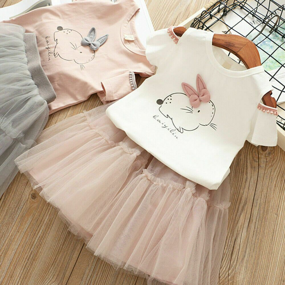 536c3704a568 (eBay Sponsored) US Casual Toddler Kid Baby Girl Outfit Clothes Bunny Tops  T-