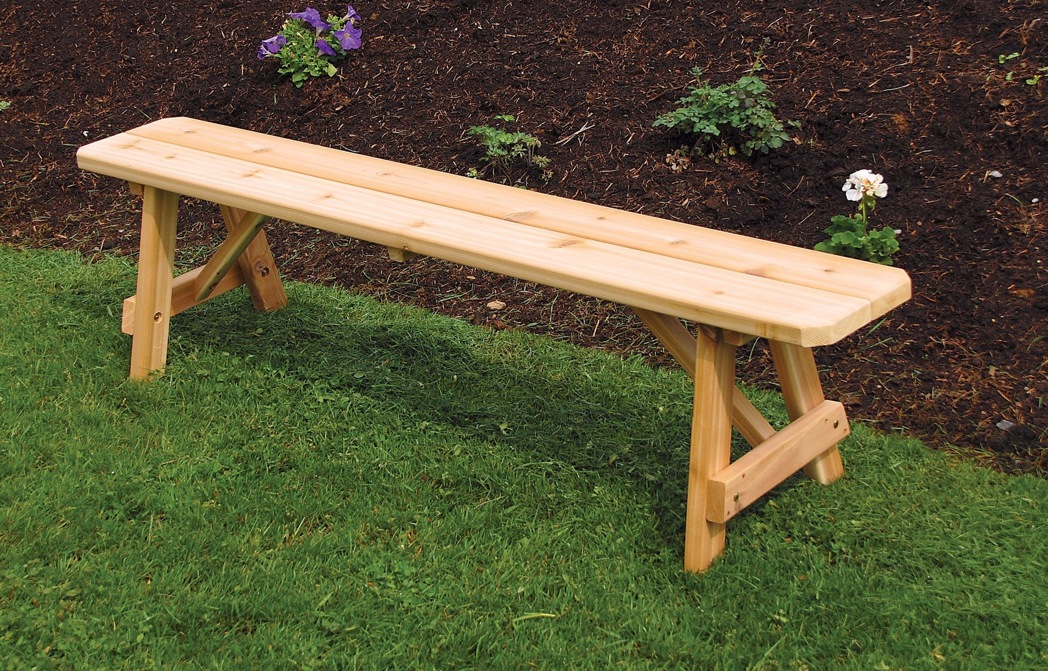 Tables greene s amish furniture part 2 - A L Furniture Co Western Red Cedar 2 Traditional Bench Only