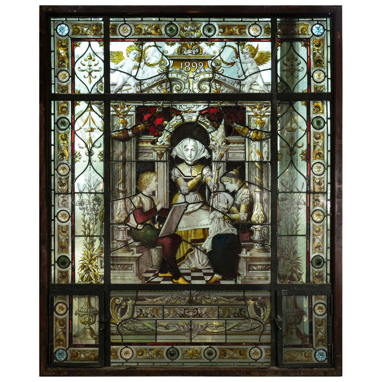 Antique Stained Glass For Sale.Pin On Reverse Painted Gilded Glass And Verre Eglomise