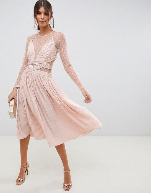 2157f0b947e5d DESIGN one shoulder belted pencil dress with tuck detail in 2019 | Erin's  Wedding Dress Options | Pencil dress, Fashion, Dresses