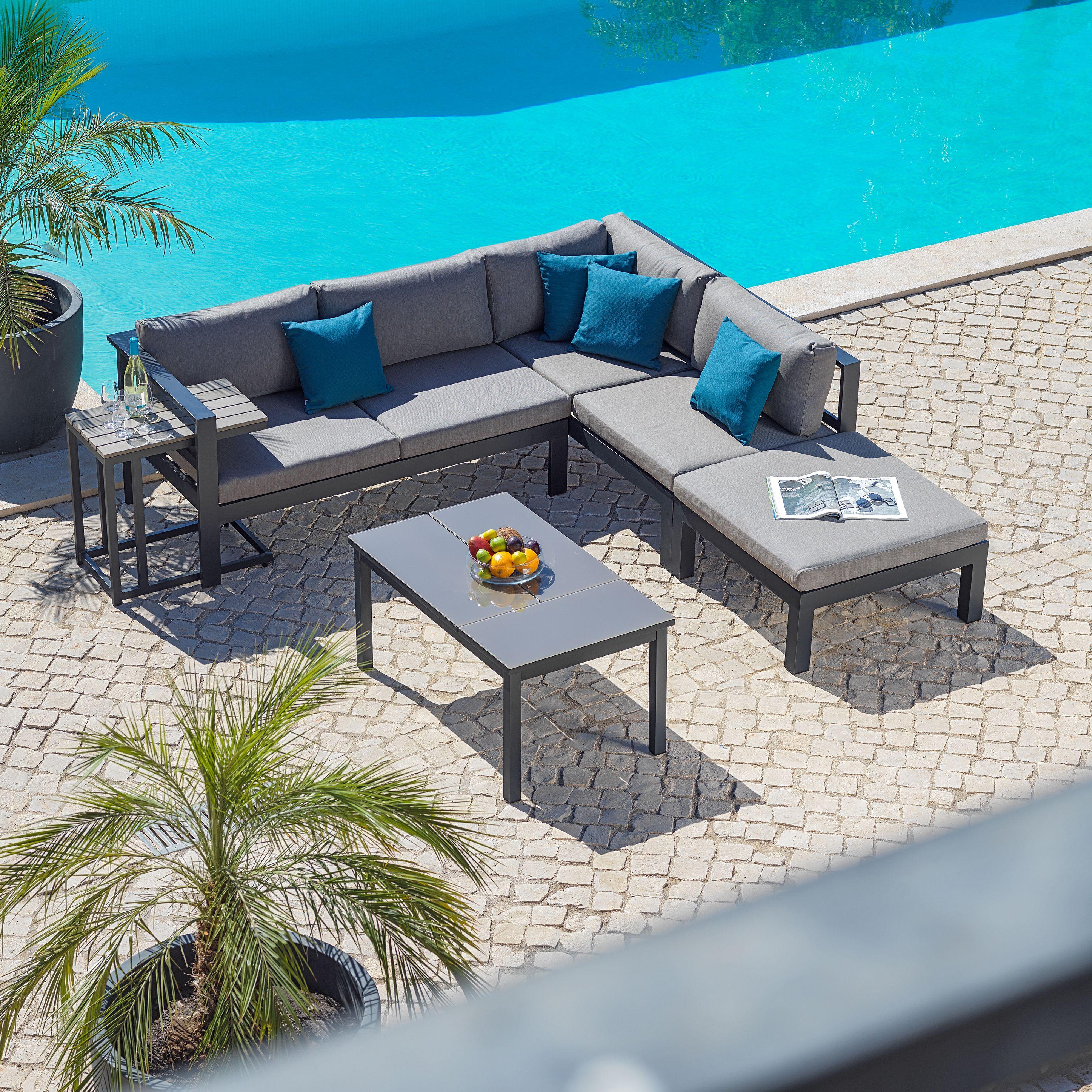 Gartenlounge metall  Graue Garten Lounge aus Metall und Textil | Gartenmöbel | Pinterest ...