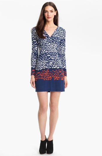 Diane von Furstenberg 'Reina' Silk A-Line Dress