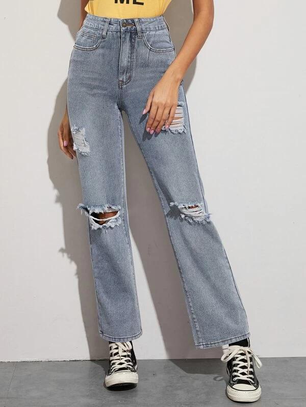 38+ Ripped straight leg jeans ideas ideas in 2021