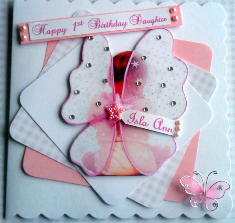 Personalised 1st Birthday Card Daughter,Grandaughter