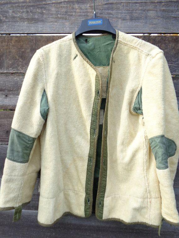 Vintage 1951 M51 Alpaca Wool Fiels Military Liner By