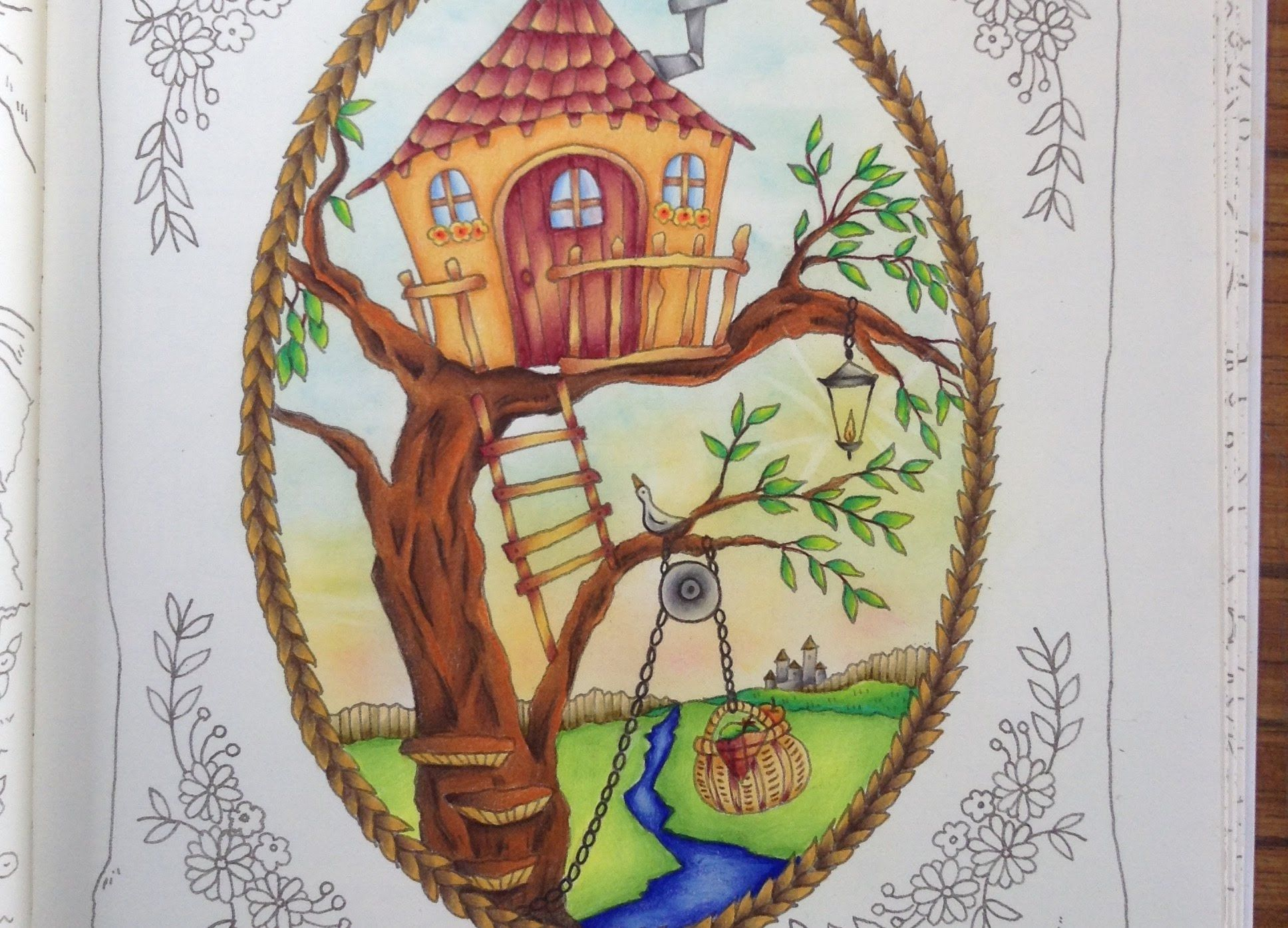 ROMANTIC COUNTRY coloring book - tutorial part 4