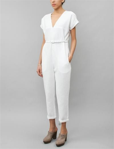 bb1a952b729 Rachel Comey Glinda Jumpsuit- White Foam