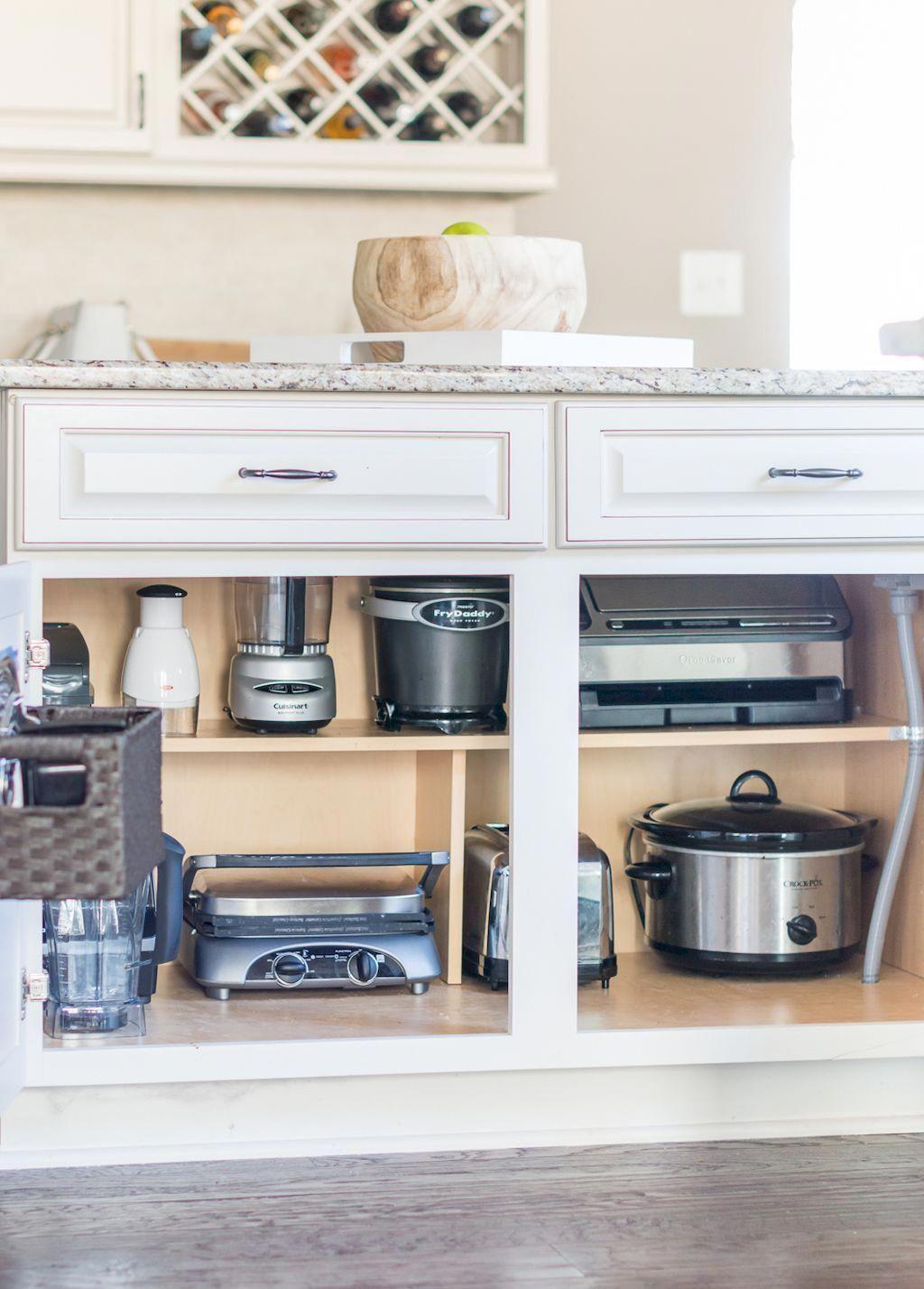 Kitchencabinetswhite Kitchen Appliances Organization New Kitchen Cabinets Small Kitchen Organization