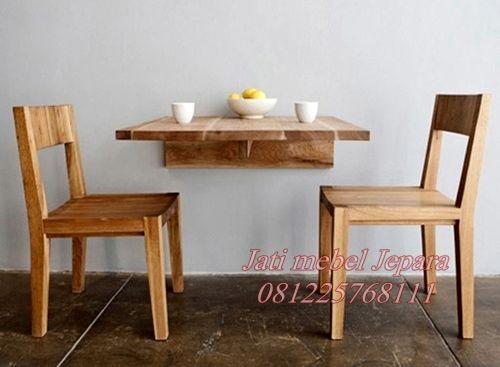 Meja Kursi Cafe Resto Dinding Untuk Hemat Ruangan Kecil