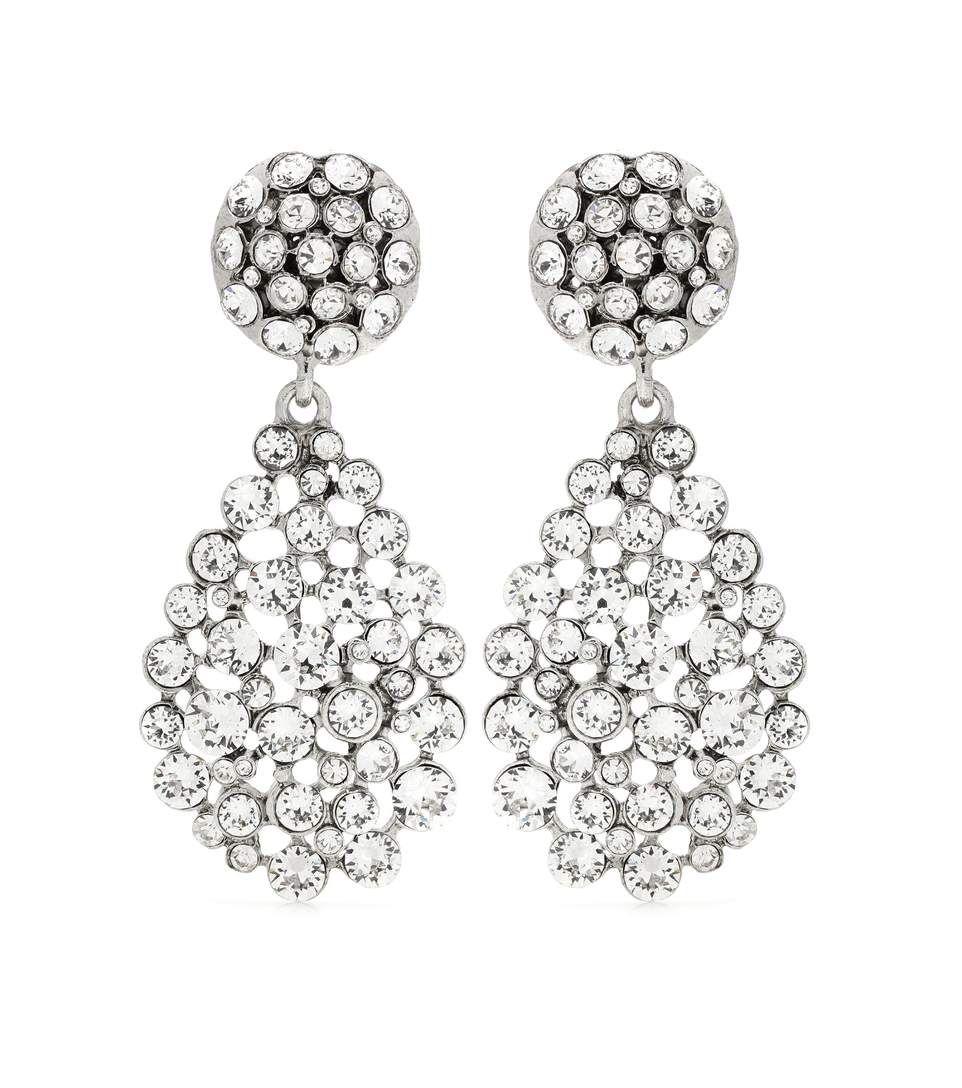 Embellished clip-on earrings Oscar De La Renta Iet8fKDJf
