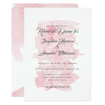 Rehearsal dinner modern simple watercolor wash card wedding rehearsal dinner modern simple watercolor wash card wedding invitations cards custom invitation card design marriage stopboris Images