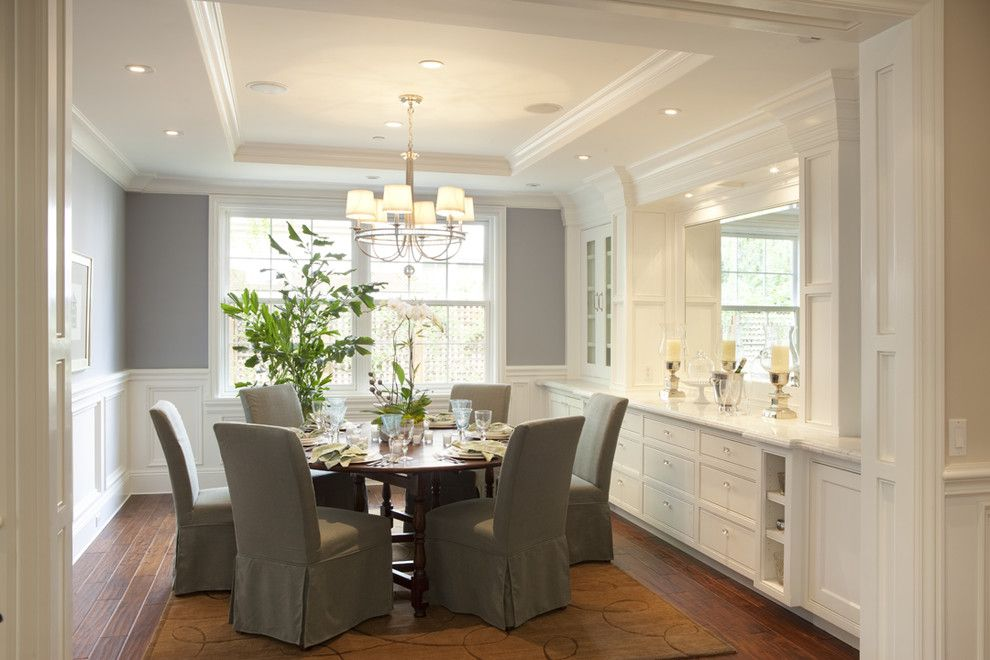 Benjamin Moore Solitude Traditional Dining Room By Arch Studio Inc Love The Built Ins Trim