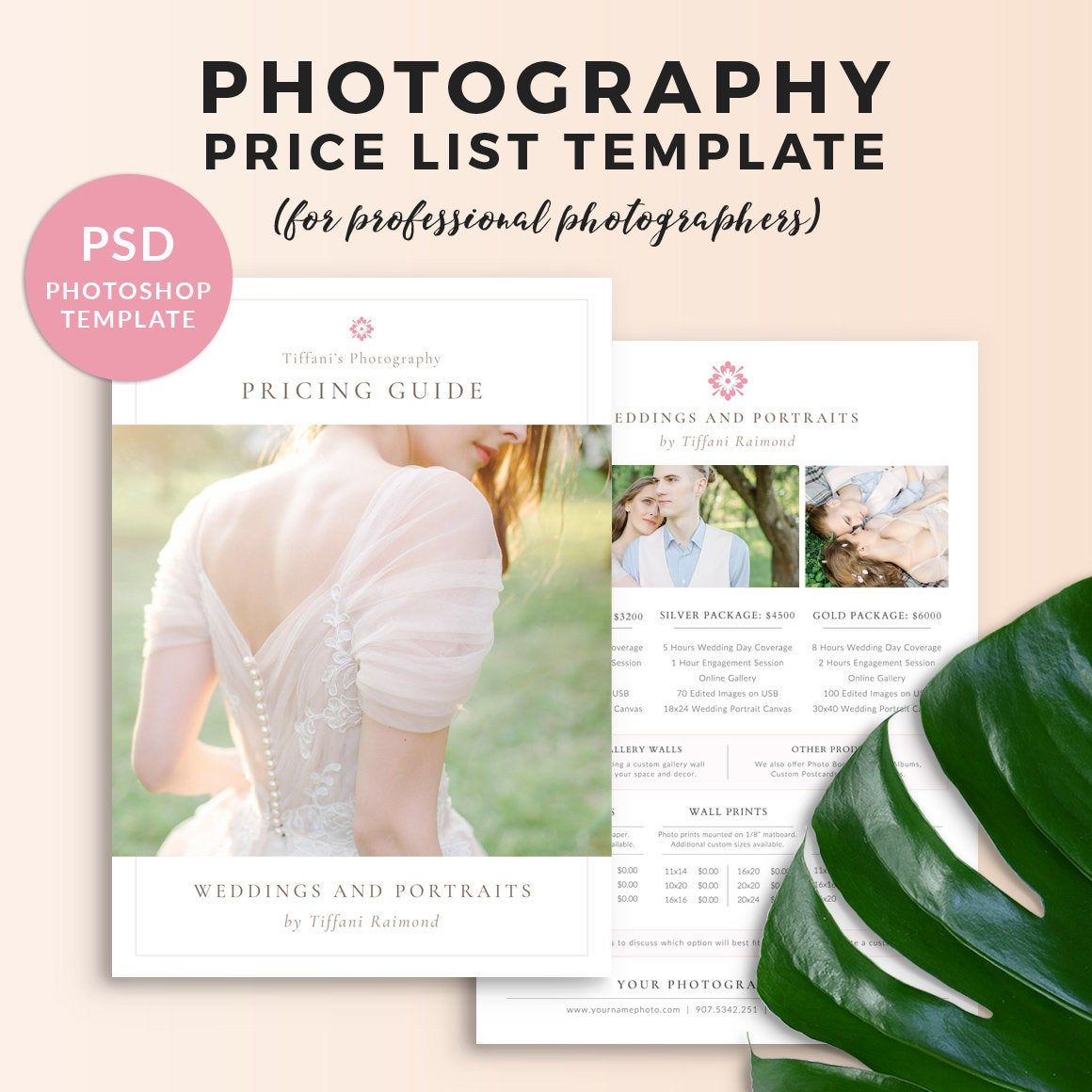 Photography Price List Template Wedding Price Sheet Photographer Pricing Guid Photography Price List Template Wedding Photography Pricing Price List Template How to price addition