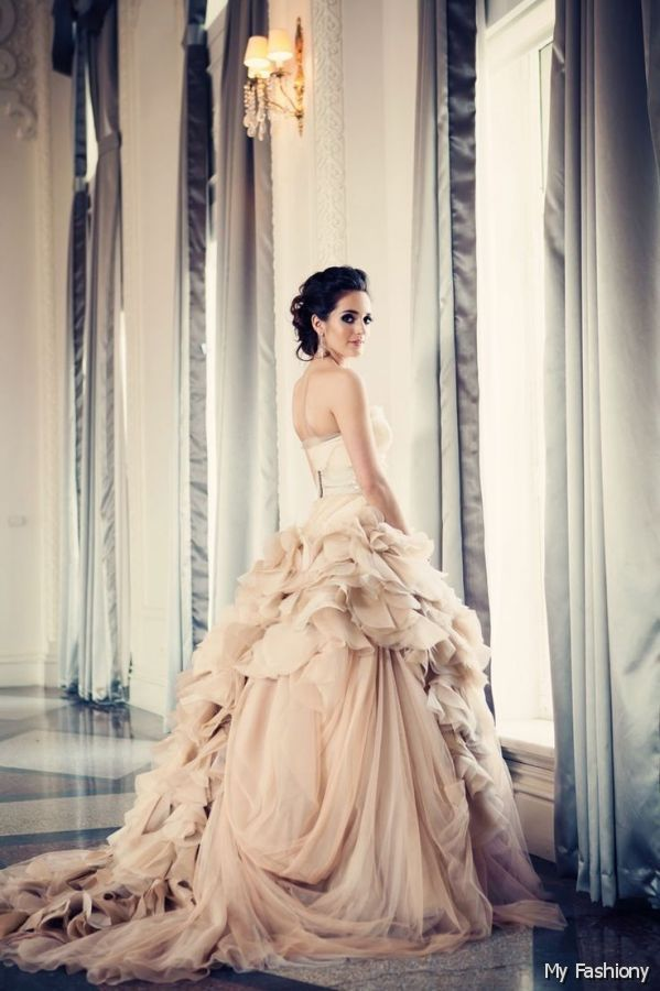 Vera Wang Dresses Vera Wang Pink Wedding Dresses In