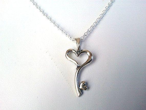 Sale Heart Key Necklace Key To My Heart Necklace Infinity
