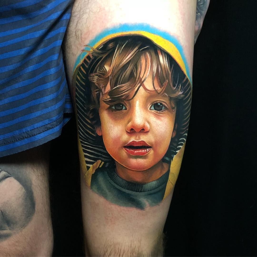 Kirsten Pettitt S Incredible Realistic Tattoo Portrait Tattoo Portrait Best Portrait Tattoo Artist