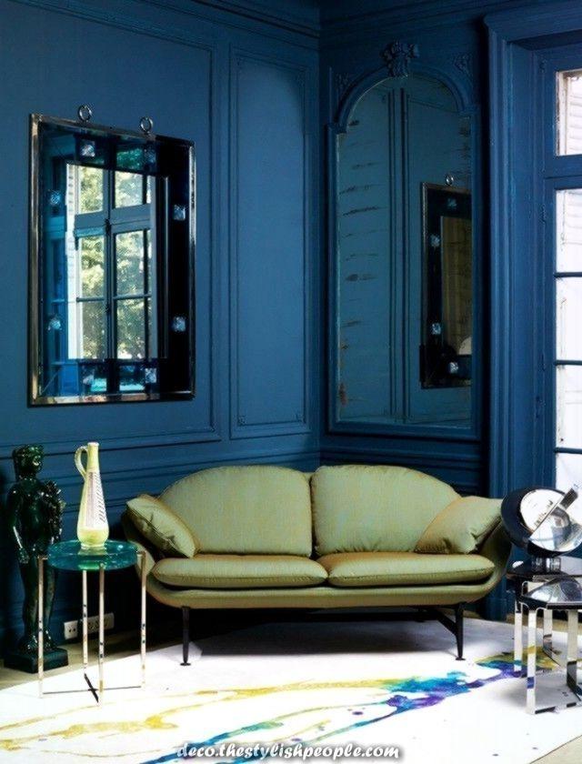 24 Wandfarbe Zu Blauer Couch